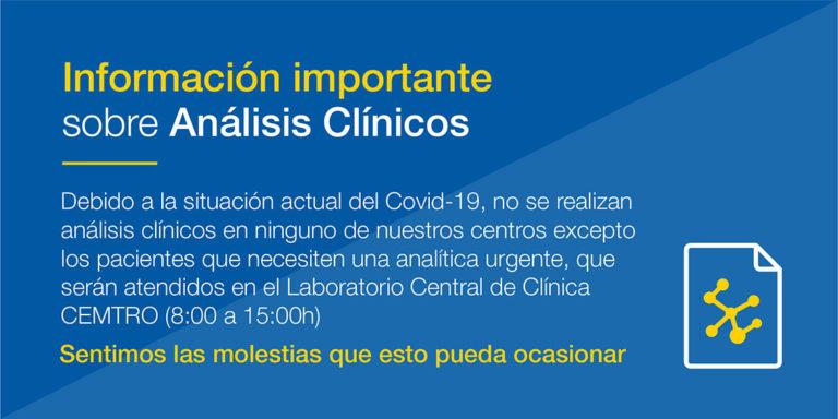 aviso extracciones cemtro coronavirus